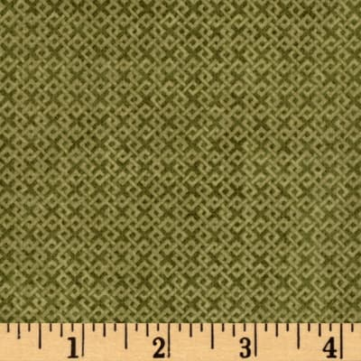 Criss Cross Flannel Olive