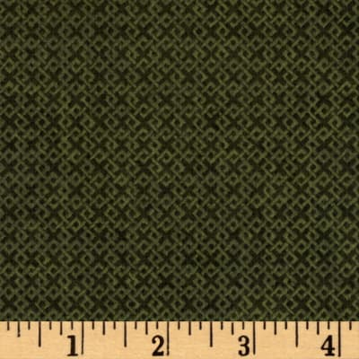 Criss Cross Flannel Forest Green