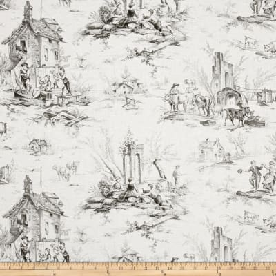 Village Garden Toile Gray
