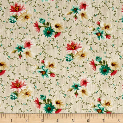 Village Garden Small Floral Cream