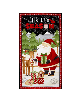"Debbie Mum Santa And Friends Door 24"" Panel Multi"