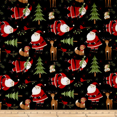 Debbie Mum Santa And Friends Santa & Woodland Friends Toss Black