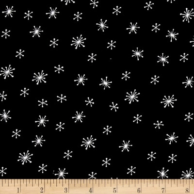 Debbie Mum Santa And Friends Snowflakes Black/White