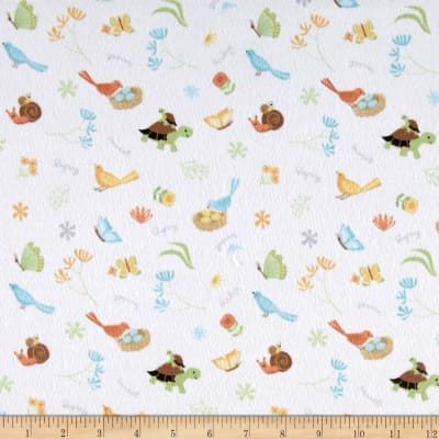 Sweet Meadow Flannel Critter Toss White
