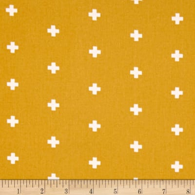 Joel Dewberry Wander Home Decor Sateen Cross Maize