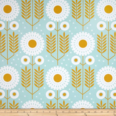 Joel Dewberry Wander Home Decor Sateen Prairie Bloom Maize