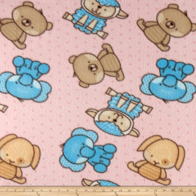 Baby Animals Fleece Pink
