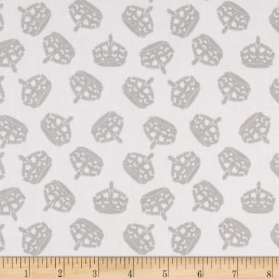 Riley Blake Silver Sparkle Crown Gray