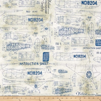 Tim Holtz Eclectic Elements Model Airplanes Blue