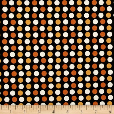 Riley Blake Lost & Found Halloween Dots Orange