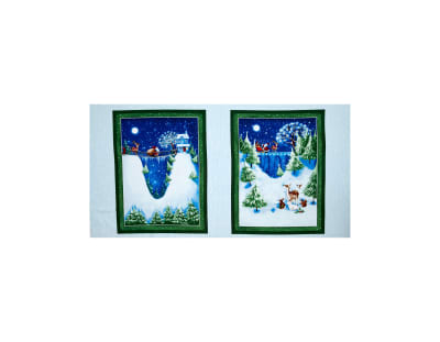 "Christmas Village 24"" Panel Multi"