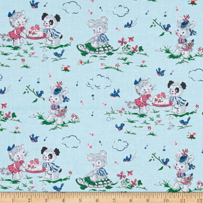 Penny Rose Strawberry Biscuit Playdate Blue