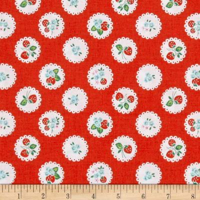 Penny Rose Strawberry Biscuit Scallop Red