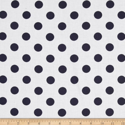 "Riley Blake 108"" Wide Medium Dot Navy Reversed"