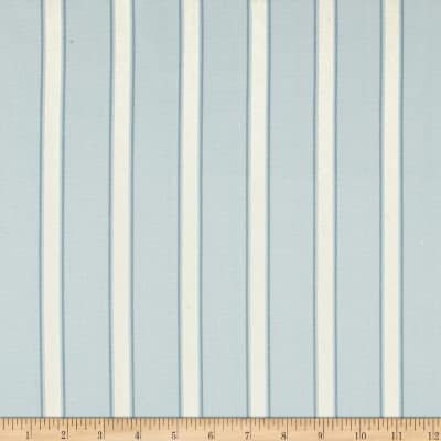 Ansley Home Decor Cotton Duck Stripe Blue/Cream
