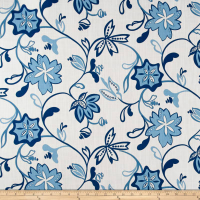 Ansley Home Decor Floral White/Blue