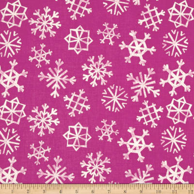 Cotton + Steel Garland Snowflakes Grape