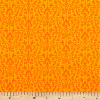 Riley Blake Ghouls & Goodies Damask Orange
