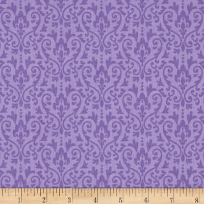 Riley Blake Ghouls & Goodies Damask Purple