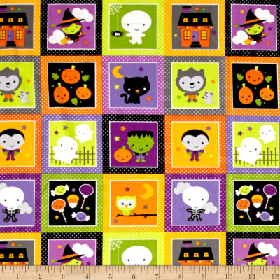 Riley Blake Ghouls & Goodies Glow in the Dark Patches Multi
