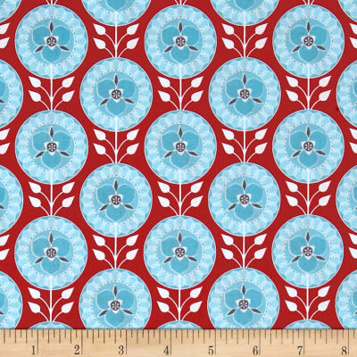 Riley Blake Desert Bloom Medallion Red