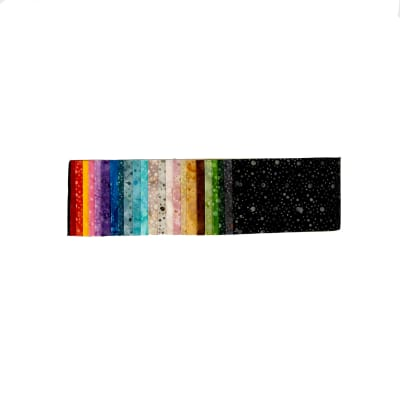 "Wilmington Mini Dots Jewels Batik 2.5"" Strips"