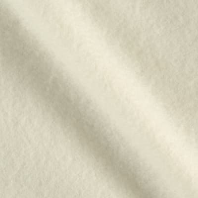 Double Brushed Solid Fleece Ivory