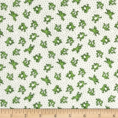 Storybook Flannel Leaping Frogs Green