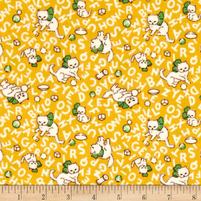 Storybook Flannel Alphabet Cats Yellow