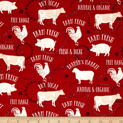 Farm to Table Animals Red