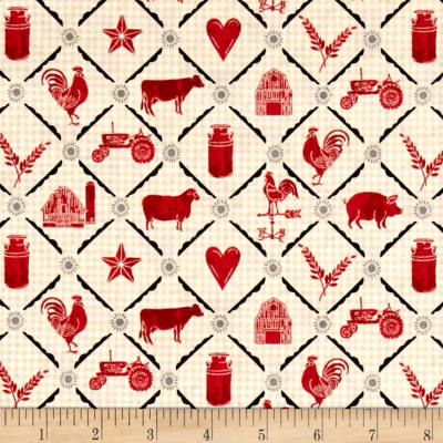 Farm to Table Animal Grid Cream