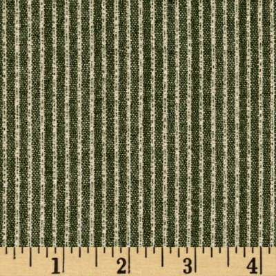 Simple Stripe Flannel Green
