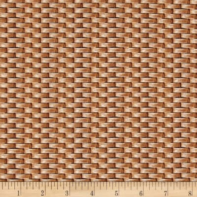 Home Sweet Home Basket Weave Brown