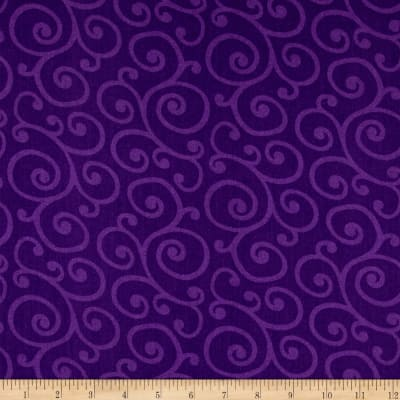 "108"" Wide Quilt Back Spin Scroll Purple"