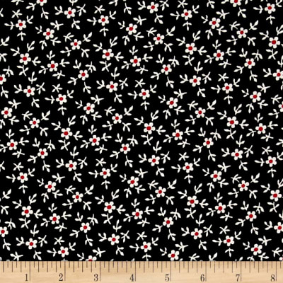 Windsong Mini Floral Black