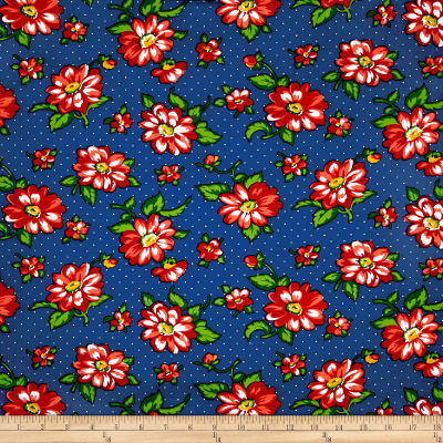 Dixie Large Floral Navy