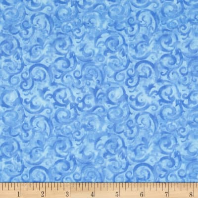 Rainforest Scroll Blue