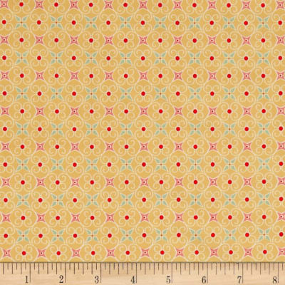 Riley Blake Cozy Christmas Wrapping Paper Yellow