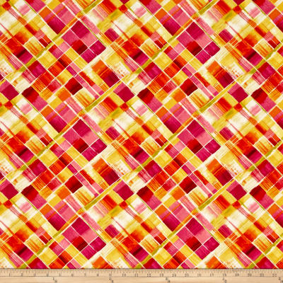Timeless Treasures Dahlia Bias Plaid Multi