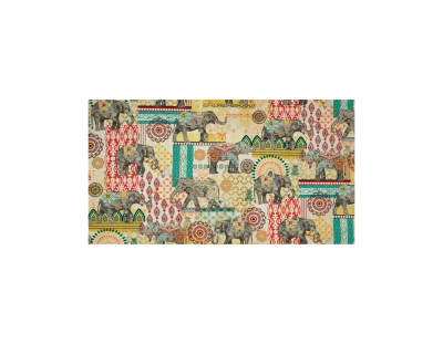 Timeless Treasures Caravan Elephant Suzani Multi