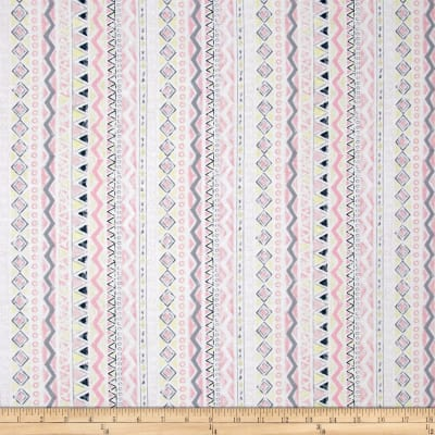 Timeless Treasures Dreamcatcher Aztec Stripe Pink