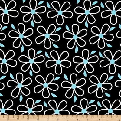 Quilt Camp Large Floral Black