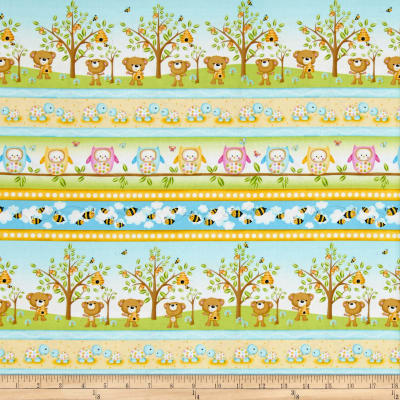 Woodland Cuties Large Woodland Stripe Multi