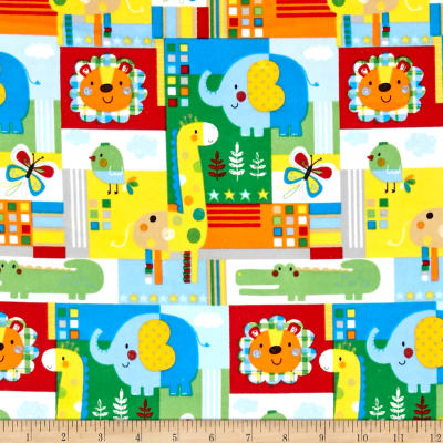 Zoo Mates Flannel Animal Patch Multi
