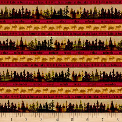 Better At The Lake Tree Stripe Red/Gold