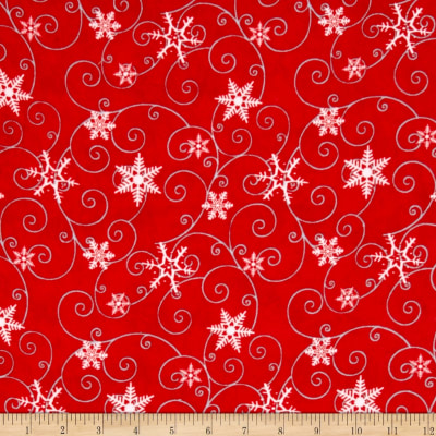 Arctic Antics Flannel Swirl Red