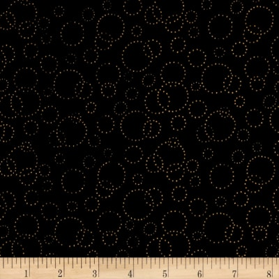 "Westrade 110"" Wide Quilt Back Champagne Black Gold Metallic"