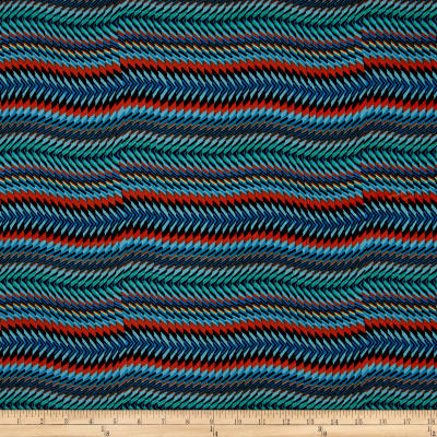 Stretch ITY Knit Beautiful Stripes Multi