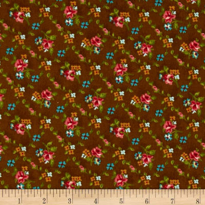 Reproduction Small Floral Brown