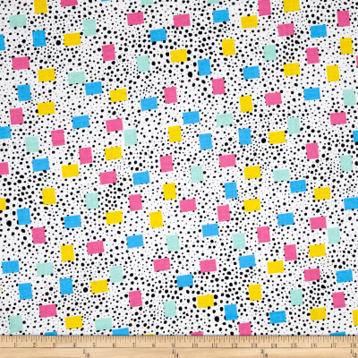 Tossed Dots Rectangles White